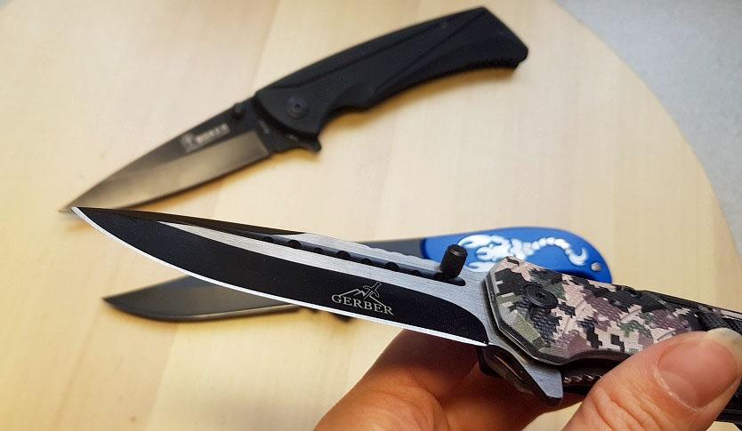 Заточка ножей в мастерской