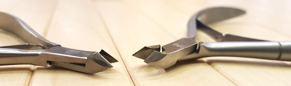 Заточка кусачек. Пример заточенных кусачек