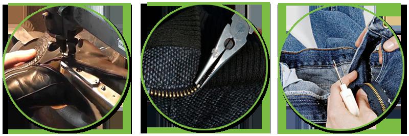 ремонт одежды замена молнии